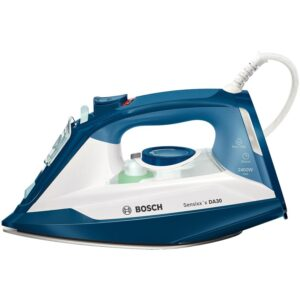 Fier de calcat Bosch Sensixx'x DA30 TDA3024110, Ceranium-Glissee, 2400 W, Alb/Albastru