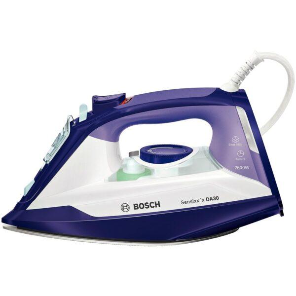 Fier de calcat Bosch Sensixx'x DA30 TDA3026110, Ceranium-Glissee, 2600 W, Alb/Mov