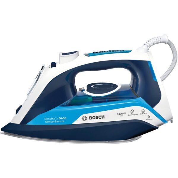Fier de calcat Bosch Sensixx'x DA50 TDA5024210, Ceranium-Glissee, 2400 W, 350 ml, 3AntiCalc, Magic night blue / ice blue