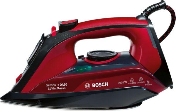 Fier de calcat Bosch Sensixx'x DA50 EditionRosso TDA503001P, Ceranium-Glissee, 3000 W, Negru/Rosu