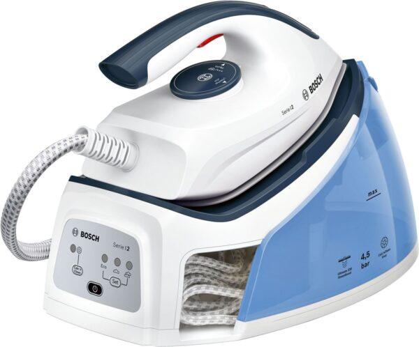 Statie de calcat Bosch TDS2140, PalladiumGlissée, 2400 W, 4,5 bari, 1.5l, 110 g/min, Albastru nocturn/Pastel Blue