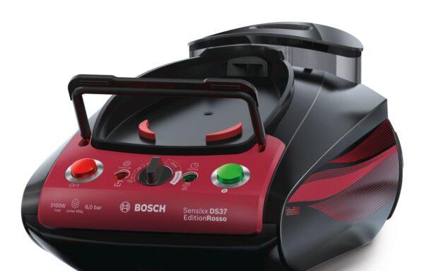 Statie de calcat cu aburi Bosch Sensixx DS37 EditionRosso TDS373118P, 6 bari, i-Temp Advanced, Negru / Rosu