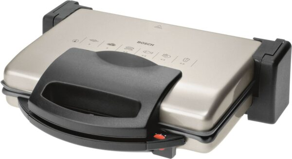 Grill Bosch TFB3302V, 1800 W, termostat reglabil, Negru/Aluminiu