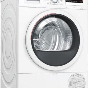 Uscător de rufe cu condensare şi pompă de căldură Bosch Serie 4 WTR85V10BY, 8 kg, Control electronic, Display LED, Filtru EasyClean, Clasa A++, Alb