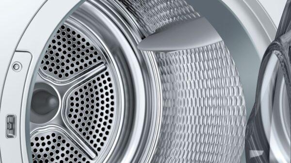 Uscator de rufe Bosch Serie 8 Logixx WTW85540EU, ActiveSteam, 9 Kg, Clasa A++, Condensare cu pompa de caldura, LCD, Alb