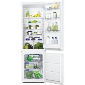 Combina frigorifica incorporabila Zanussi ZBB28441SA, 268 l, Clasa A+, H 177.2 cm, Alb