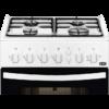 Aragaz Zanussi ZCG212H1WA, 50x50 cm; 4 arzatoare gaz; 61 litri; Timer, Aprindere electrica plita, Grill, Alb