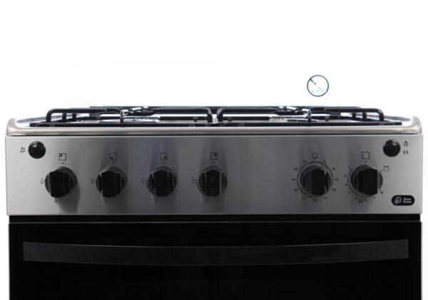Aragaz Zanussi ZCG612H1XA, Gaz, 4 Arzatoare, Grill, Rotisor, Aprindere Electrica, 60x60 cm, Inox