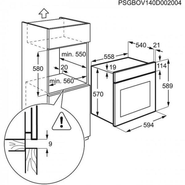 Cuptor incorporabil Zanussi ZOC25601XU, Electric, 6 functii, 57 l, Clasa A, Inox antiamprenta