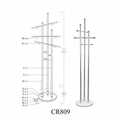 Cuier cromat SL CR809