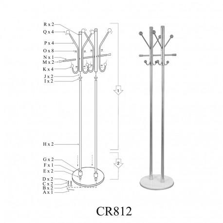Cuier cromat SL CR812