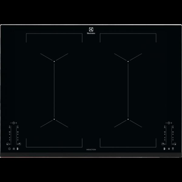 Plita incorporabila Electrolux EIV744, Inductie, 4 Arzatoare, Control touch, 70 cm, Sticla neagra