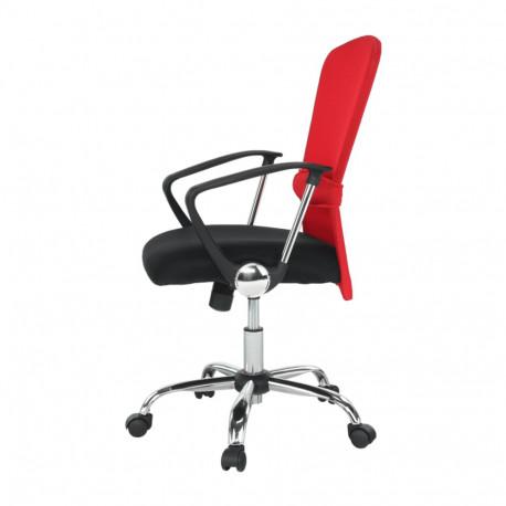 Fotoliu birou GL AEX rosu - negru