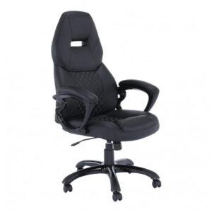 Fotoliu birou, piele eco neagră, GL HEVYR