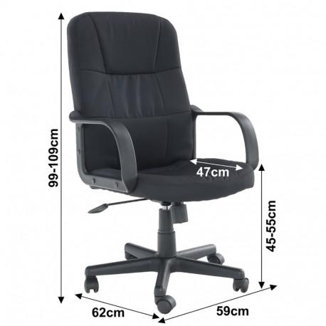 Fotoliu de birou, negru, GL TC3-7741