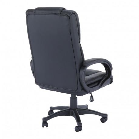 Fotoliu de birou, piele eco neagră, GL SIEMO