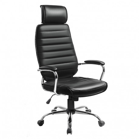 Fotoliu de birou, piele ecologică neagră, GL IZIDOR