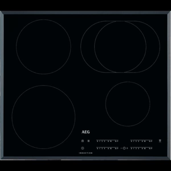 Plita incorporabila AEG IKB64413FB, Inductie, 4 arzatoare, 60 cm, sticla neagra