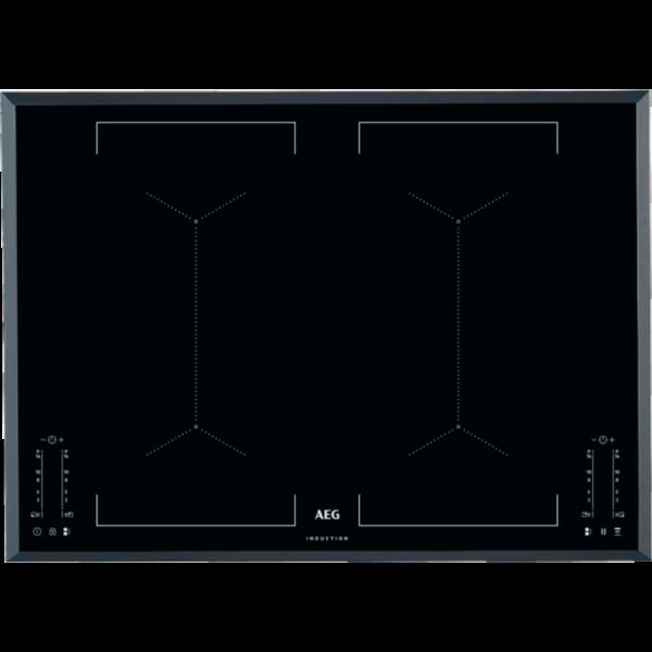 Plita incorporabila AEG IKE74451FB, Inductie, 4 arzatoare, 74 cm, sticla neagra