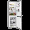 Combina frigorifica AEG RCB53426TX, No Frost Inteligent, No Frost Inteligent, 311 l, Clasa A++, Display, H 185 cm, Inox antiamprenta