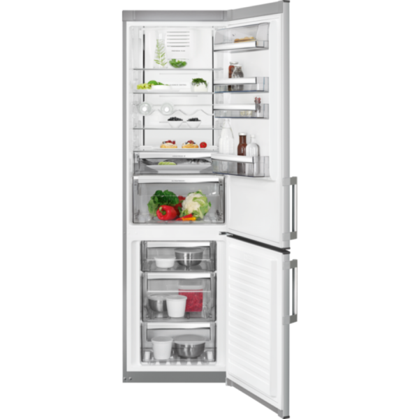 Combina frigorifica AEG RCB63726KX, No Frost Inteligent, 319 l, Clasa A++, Display, H 200 cm, Inox antiamprenta