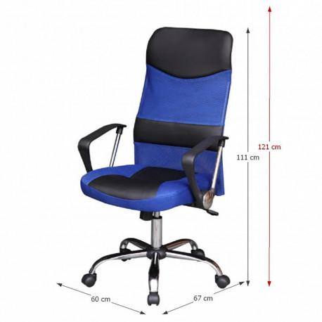 Scaun birou, albastru/negru, GL TC3-973M