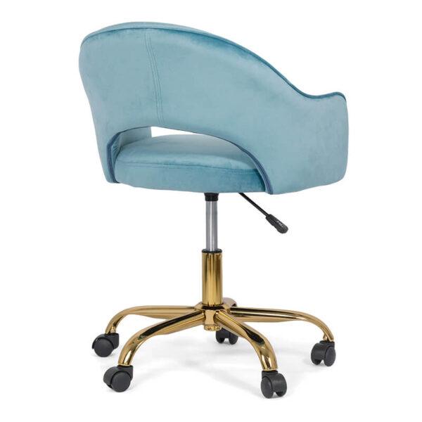 Scaun din catifea pentru birou cu baza aurie OFF 640