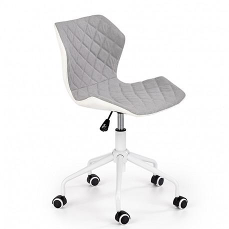 Scaun birou copii HM Matrix 3 gri - alb