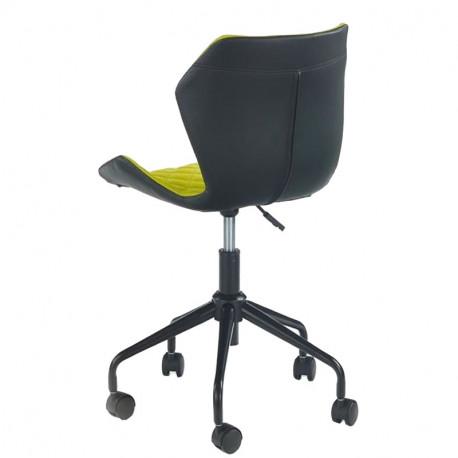 Scaun birou copii HM Matrix negru - verde