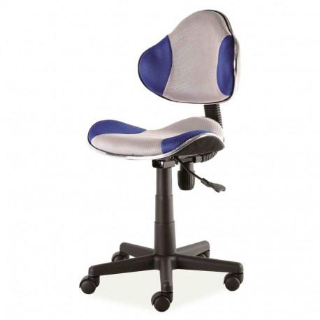 Scaun birou copii mesh SL QG2 albastru - gri