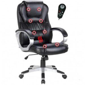 Scaun birou cu funcţie de masaj, negru, GL TYLER UT-C2652M