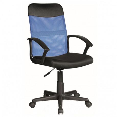 Scaun birou SL Q702 Albastru - Negru