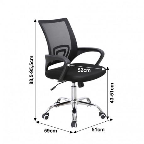 Scaun de birou, mesh negru/negru, GL DEX 2