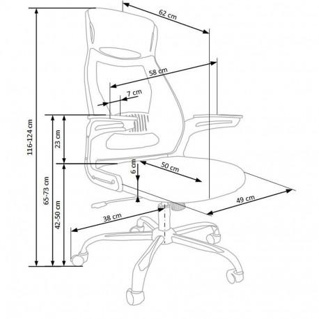 Scaun directorial mesh HM Solaris gri