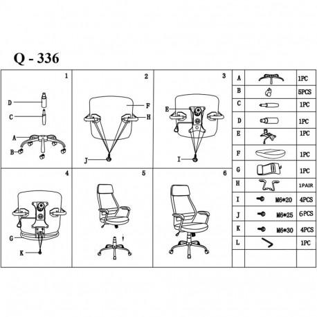 Scaun directorial mesh SL Q336 gri