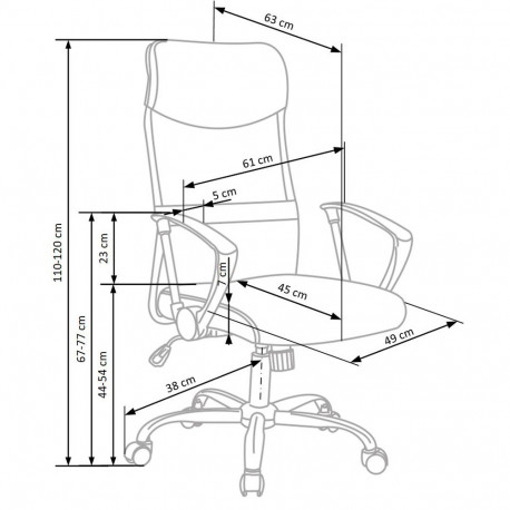 Scaun ergonomic mesh HM Vire gri