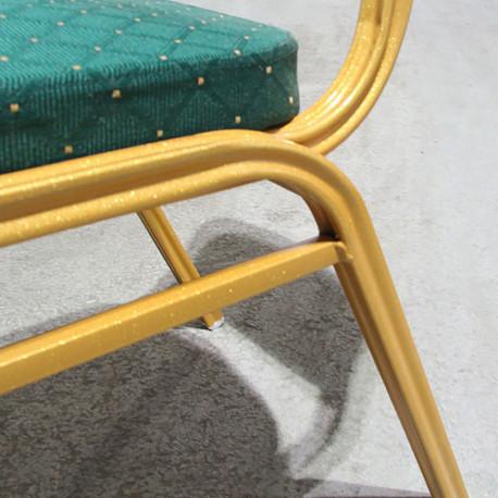 Scaun GL ZINA 2 verde - auriu