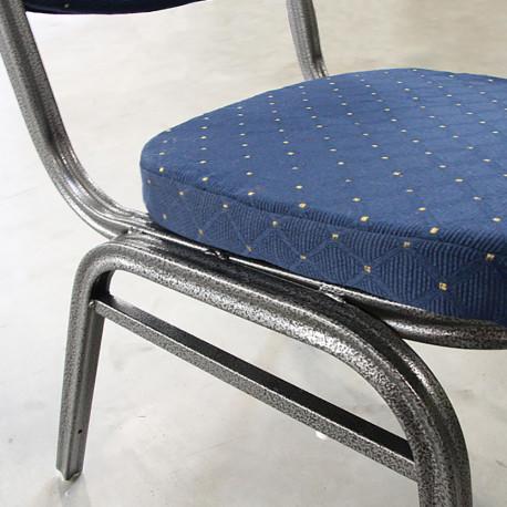 Scaun, stivuibil, textil albastru închis/gri cadru, GL JEFF 2