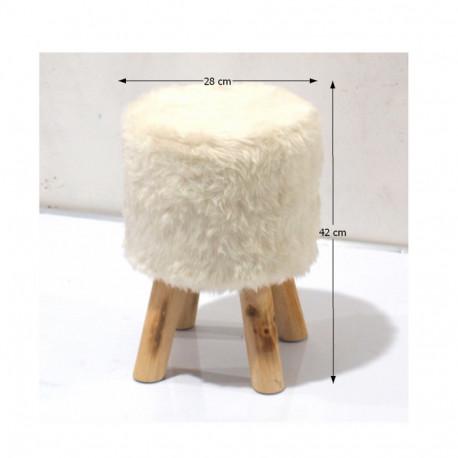 Taburete alb/pin GL ALPIA