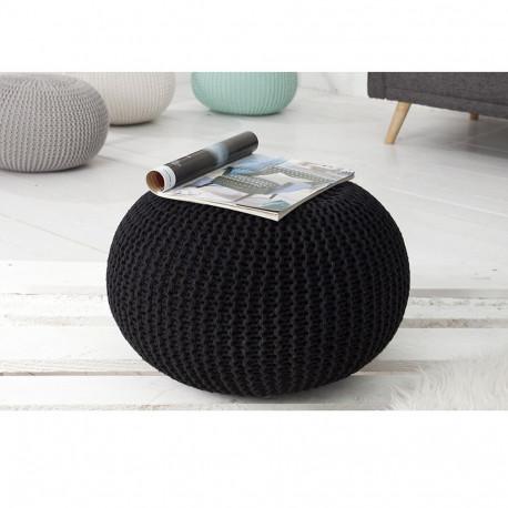 Taburete tricotat bumbac negru GL GOBI TIPUL 1
